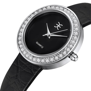 Genuine Leather Watch Ft Swarovski Crystals