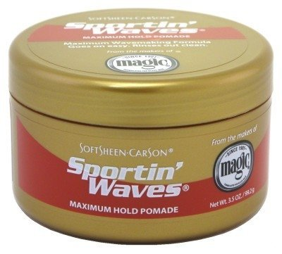 Soft Sheen Sportin Waves Maximum Hold Pomade 3.5 oz.