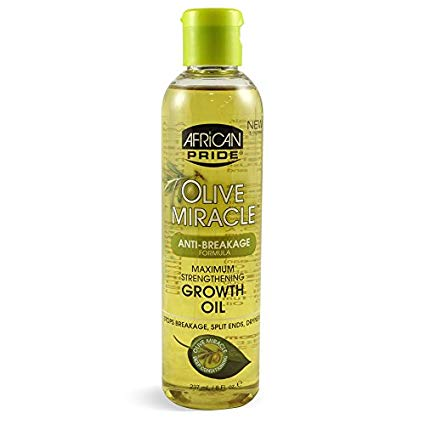 African Pride Olive Miracle Anti-Breakage Maximum Strengthening Growth Oil 237 ml/8 fl.oz