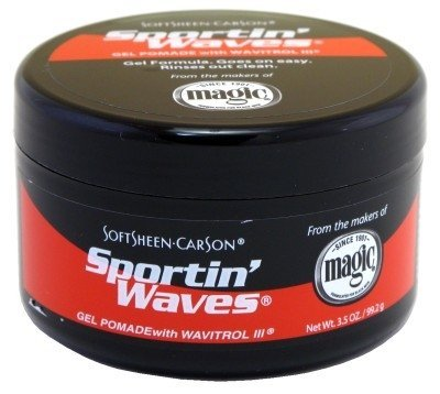 Soft Sheen Sportin Waves 3.5 oz. Pomade Jar (Pack of 2)