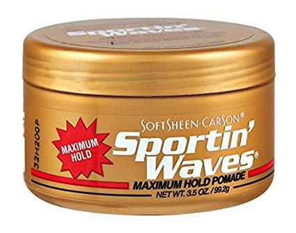 Soft Sheen Sportin Waves Maximum Hold Pomade 3.5 oz. (Pack of 3)