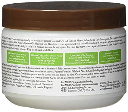 Palmers Coconut Oil with Monoi - Moisture-Gro Conditioning Hairdress - Jar - 250g