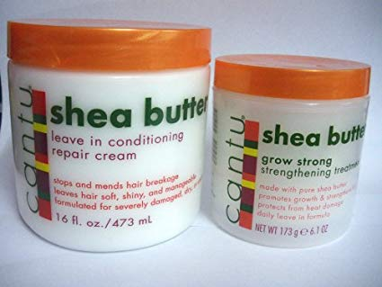 Shea butter leave in conditioning repair cream 473ml + Gro Strong Strengthening Treatment