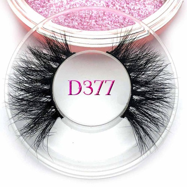 Private label custom package mink eyelashes 3d mink lashes D379