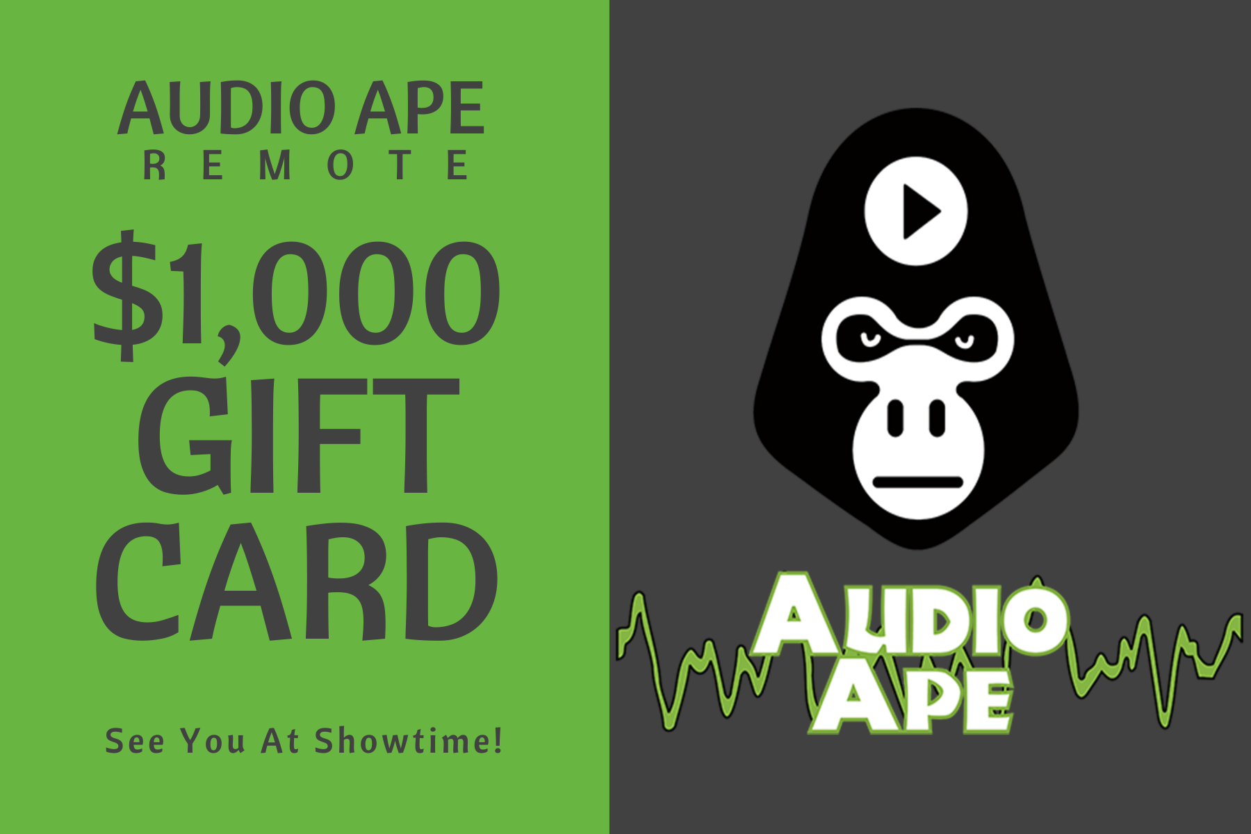 Audio Ape Gift Card