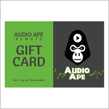 Load image into Gallery viewer, Audio Ape Gift Card