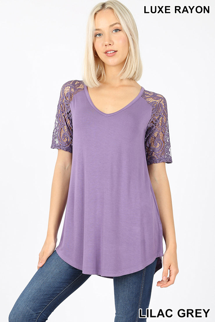 Luxx Lace Top /5 Colors