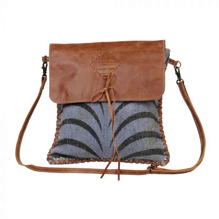 Grey Tranquility Collection Small Crossbody Bag