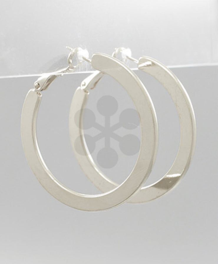 Wide Hoop Earrings/2Colors