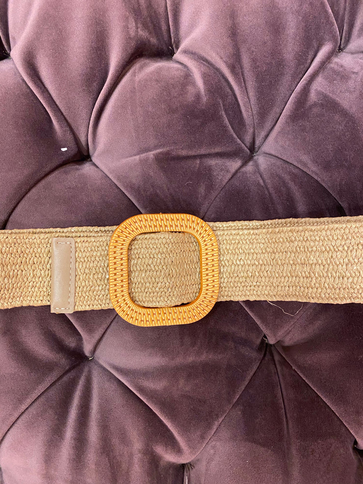 Straw Buckle Belt