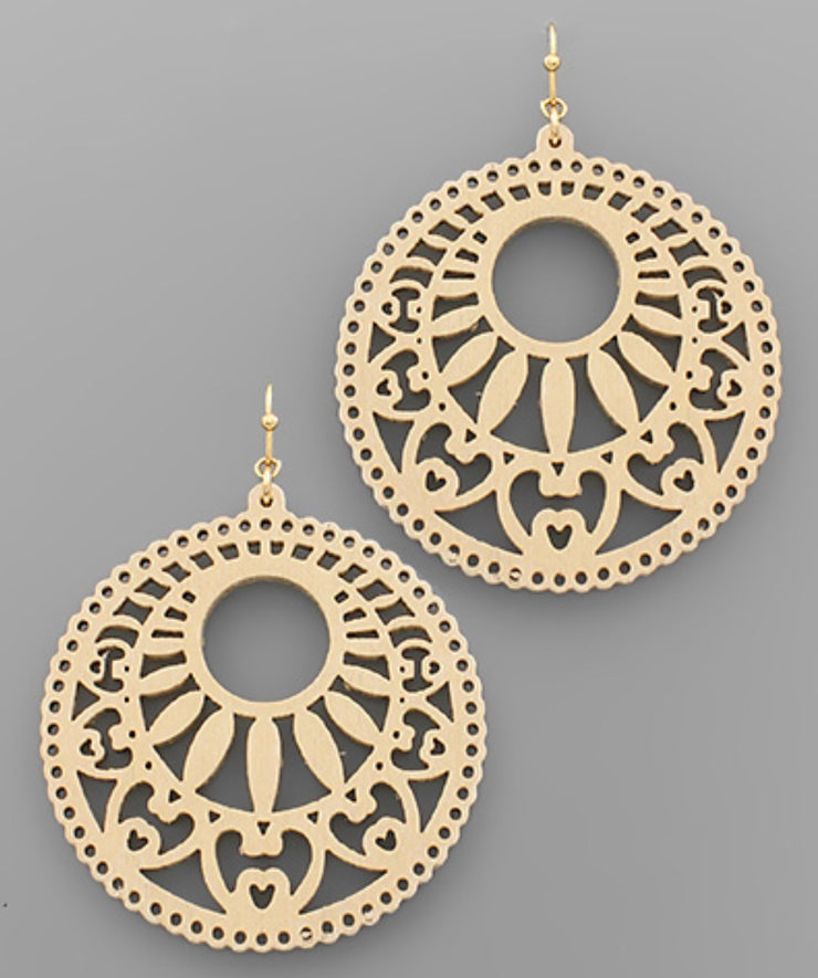Filigree Circle Earrrings