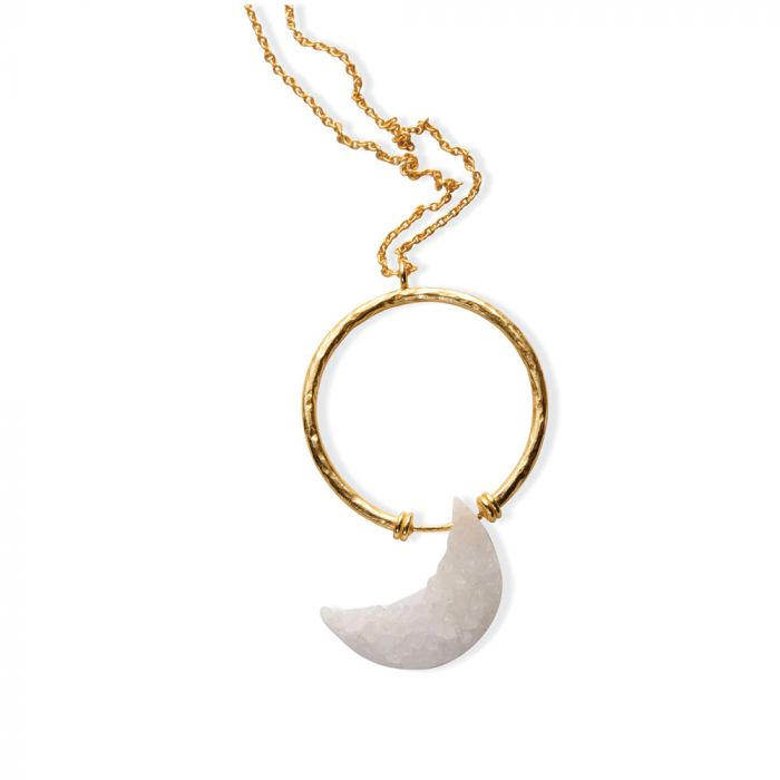 Angel Crescent Necklace