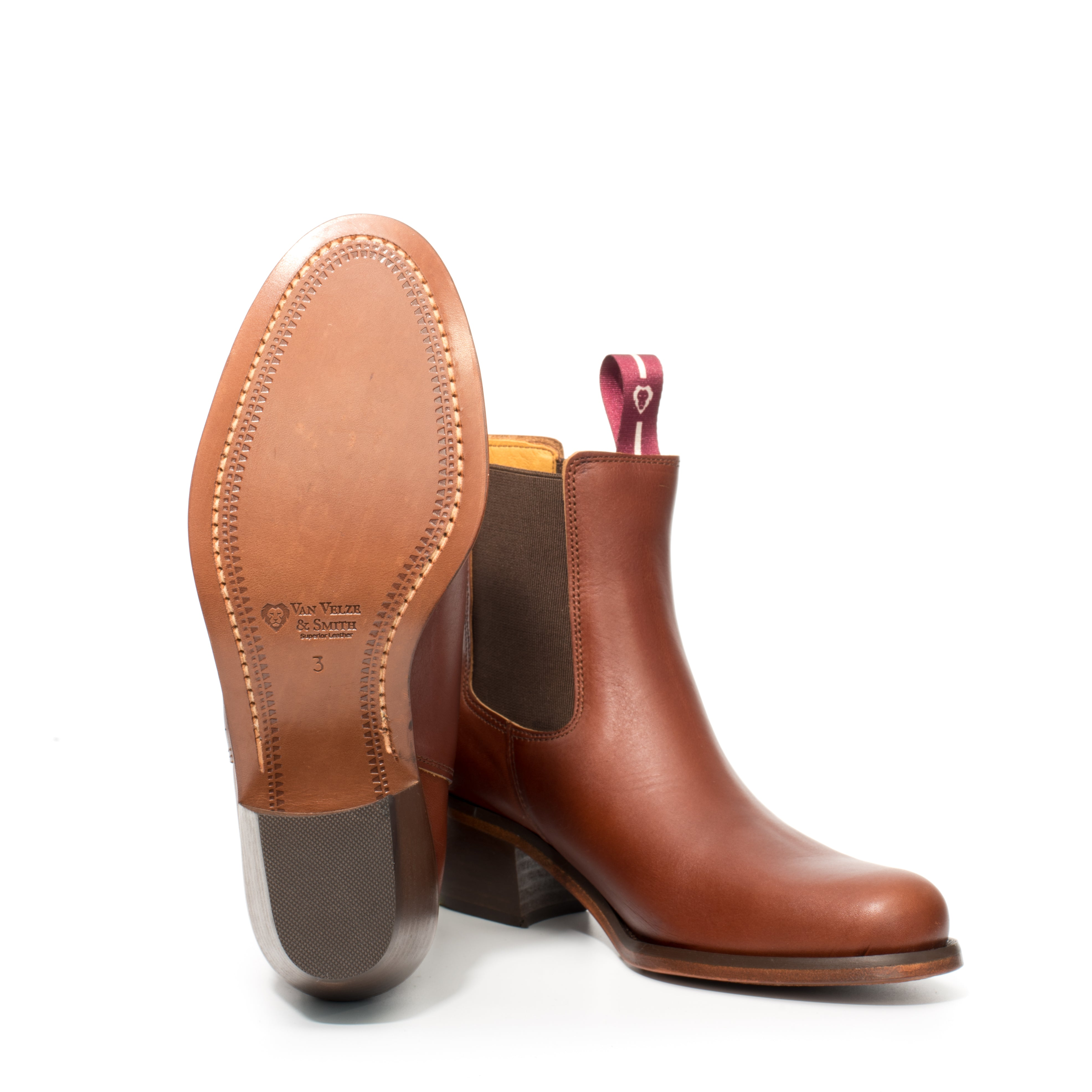 Leather sole chelsea boot