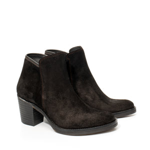 Van Velze & Smith Short Black Suede Boot with Heel