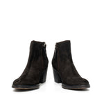 Black suede british boots