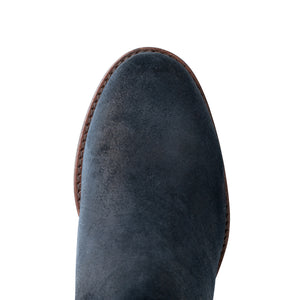 Round toe Long suede boots