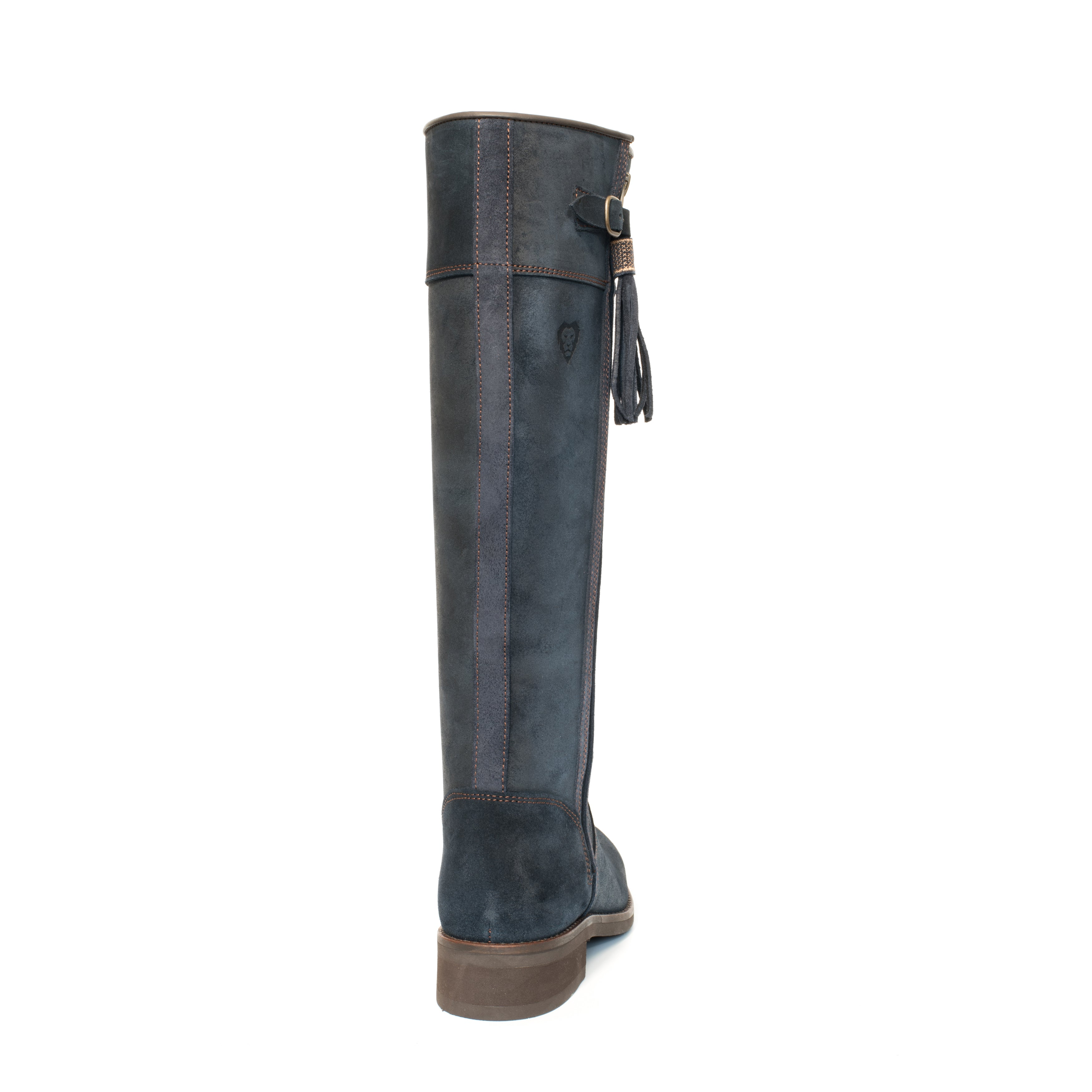 Flat spanish style long boots