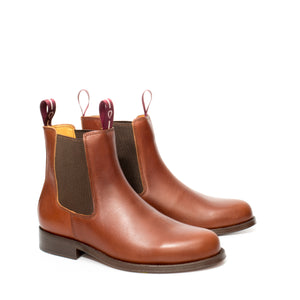 Van Velze & Smith Short Tan Chelsea Boots