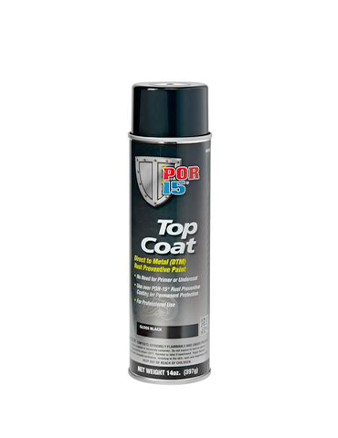 POR15 Gloss Black Top Coat Aerosol 14oz (397G)