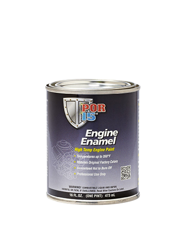 POR15 Engine Enamel Aluminium Pint (473ml)