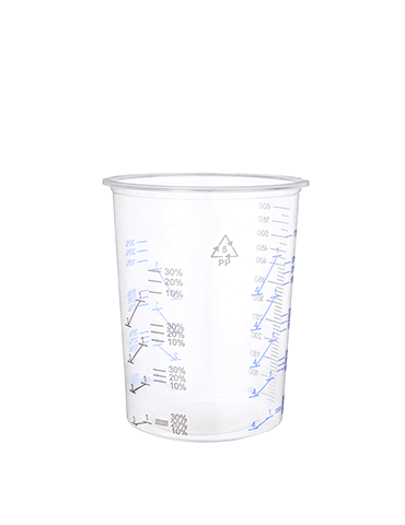 Flexible Paint Mixing Cup 600cc