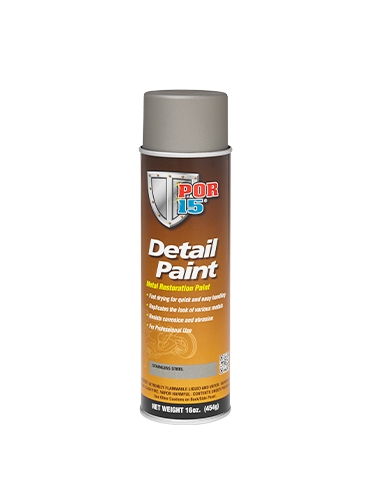 POR15 Detail Paint Stainless Steel Aerosol 15oz (425g)