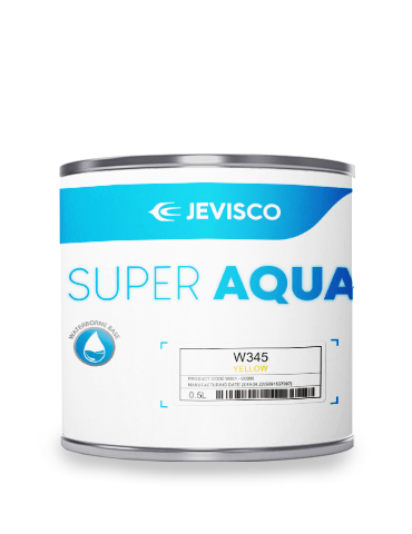 JEVISCO SUPER AQUA W345 Yellow 500ml/Can