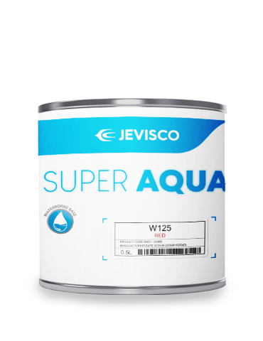 JEVISCO SUPER AQUA W125 Red 500ml/Can