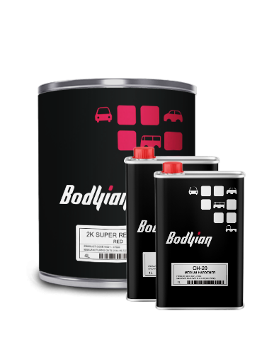 BODYIAN 2K SUPER RED V 2C (3P0) Medium 6L KIT
