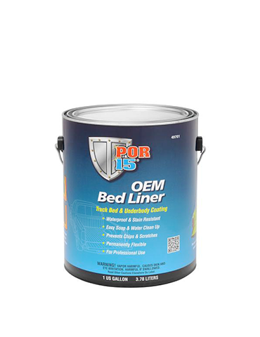 POR15 OEM Bed Liner Black Gallon 3.78Lt