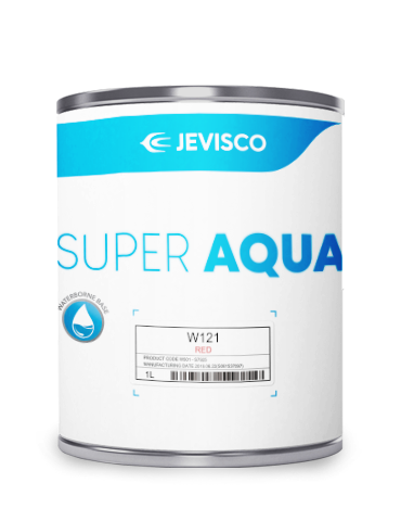 JEVISCO SUPER AQUA W121 Red 1Lt/Can