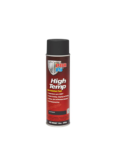 POR15 High Temp Flat Black Aerosol 15oz (425G)