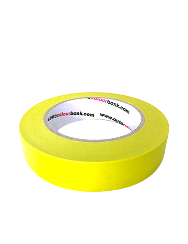 S1 Yellow Automotive Crepe Rubber Masking Tape 24mm X 50M