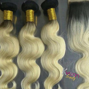 Blonde 1b613 Body Wave Closure