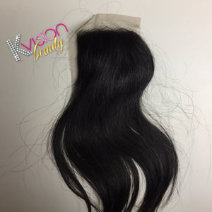Raw Cambodian Natural Straight Closure
