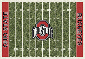 Ohio State Area Rug University Football Field