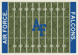 Air Force Area Rug University Football Field