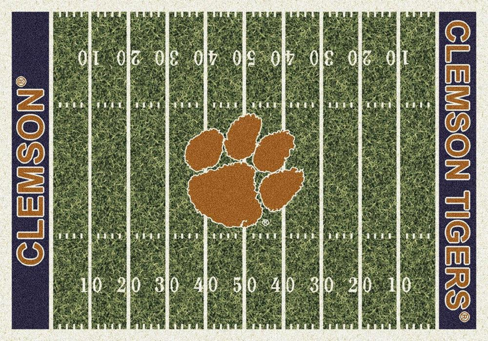 Clemson Area Rug University Football Field