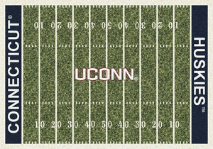 Connecticut Area Rug University Football Field