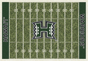 Hawaii Area Rug University Football Field