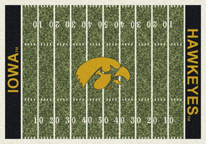 Iowa Area Rug University Football Field