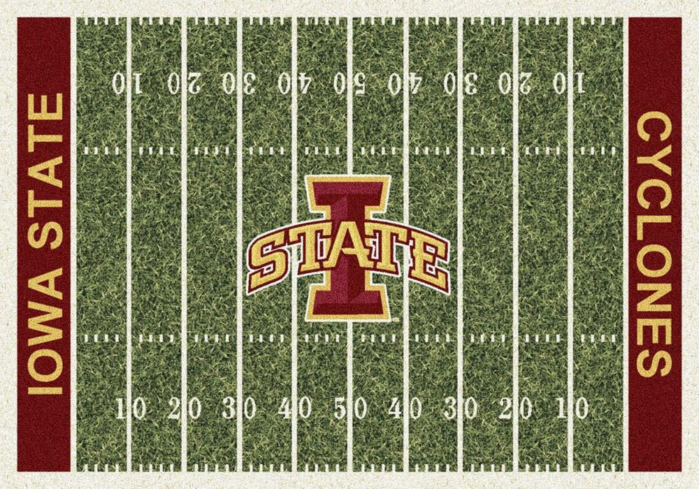 Iowa State Area Rug University Football Field