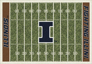 Illinois Area Rug University Football Field