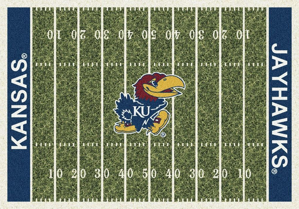 Kansas Area Rug University Football Field