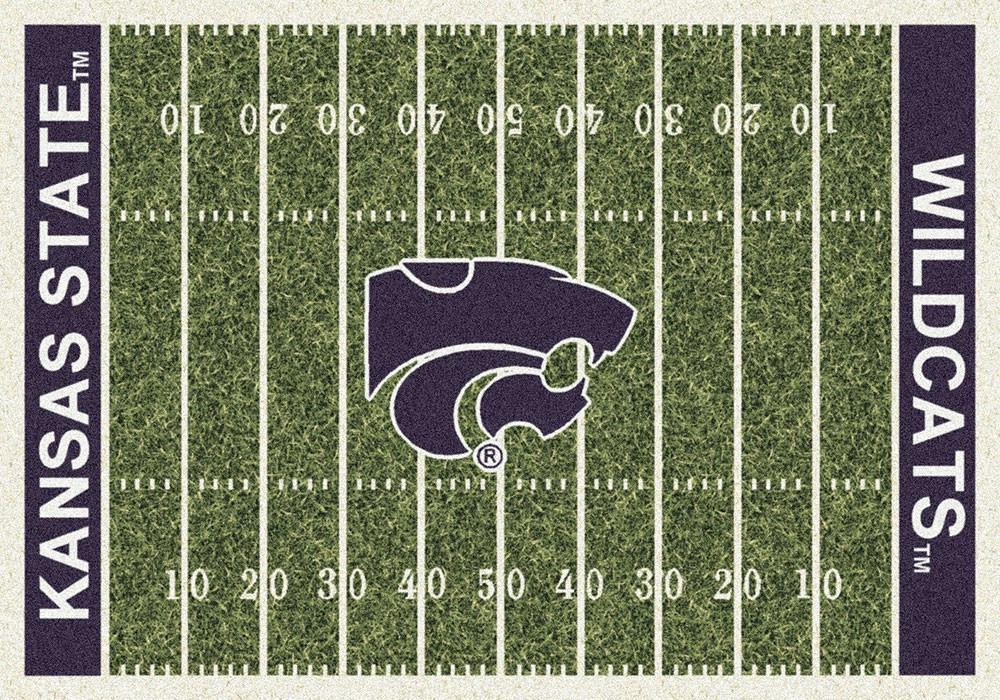 Kansas State Area Rug University Football Field