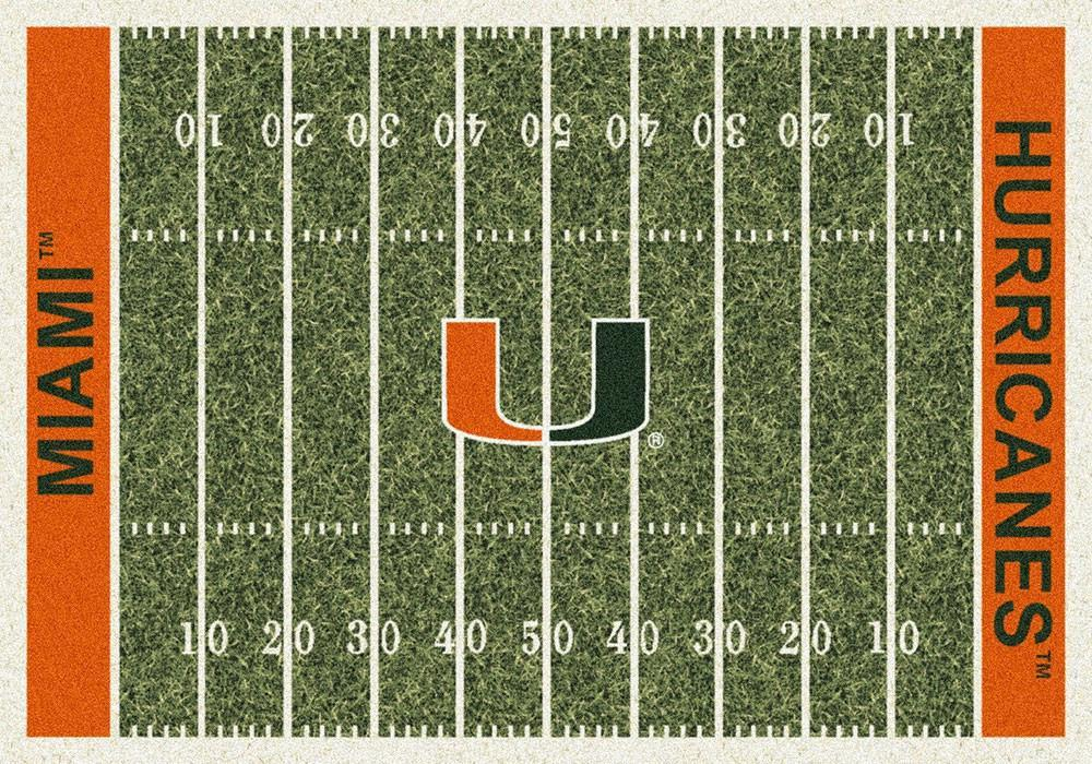 Miami Area Rug University Football Field