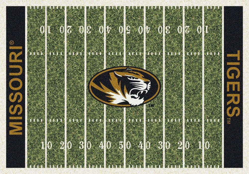 Missouri Area Rug University Football Field