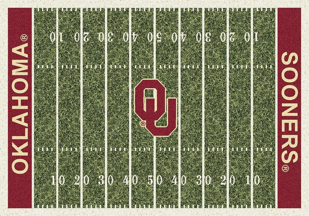 Oklahoma Area Rug University Football Field
