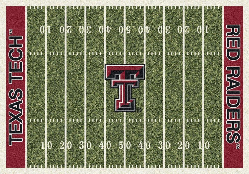Texas Tech Area Rug University Football Field