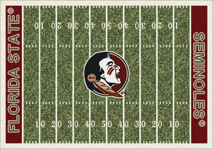 Florida State Area Rug University Football Field